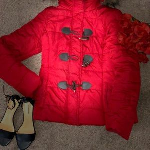 Aeropostale bright red stylish jacket
